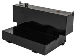 JOBOX 100 Gallon Black L-Shaped Fuel-N-Tool™ Ready Steel Liquid Transfer Tank for Trucks For 4-Door Trucks