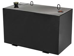 JOBOX 100 Gallon Black Rectangular Steel Liquid Transfer Tank for Trucks