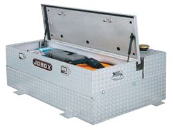 JOBOX 74 Gallon L-Shaped Tank with Removable Chest Aluminum Fuel-N-Tool™ Combo Tank With Chest