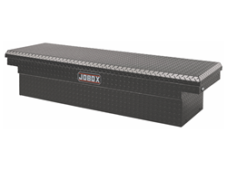 JOBOX Low-Profile Black Aluminum Fullsize Single Lid Crossover Truck Box