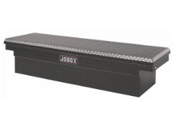 JOBOX Black Aluminum Single Lid Mid-Size Crossover Truck Box