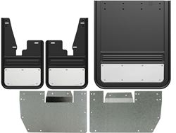 2009-2018 RAM Stainless Steel Gatorback No-Drill Dually Mud Flap Set - Without OEM Flares