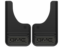 GatorBack Mini GunMetal GMC Logo CUT Mud Flaps - 10