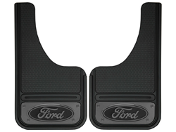 GatorBack Mini GunMetal FORD Logo Cut Mud Flaps - 10