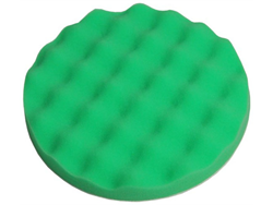"Picture of 8"" Green Foam Waffle Pad -Medium Cutting"