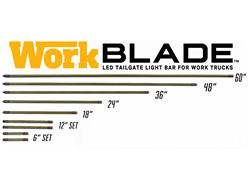 6 in. Work Blade LED Light Bar in Amber/Blue with White Over-Ride - Sold in Pairs