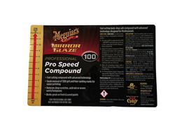 Secondary Safety Label - #100 Pro Speed
