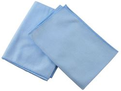 "Picture of Microfiber Glass Cloth - 16""x16"" Light Blue"