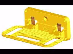 Picture of HD Mega Step Flat Mount  - Safety Yellow
