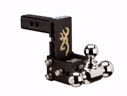 Picture of Tri Ball Mount-Browning - 2 in. Receiver - 1 7/8 in,  2 in. & 2 5/16 in. Ball - 5 in. Drop - 5.5 in. Rise