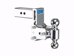 Picture of Dual Ball Mount-Chrome - 2.5 in. Receiver - 2 in. & 2 5/16 in Ball - 5 in. Drop - 5.5 in. Rise