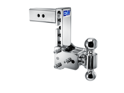 Picture of Dual Ball Mount-Chrome - 2.5 in. Receiver - 2in. & 2 5/16 in. Ball - 7 in. Drop - 7.5 in. Rise