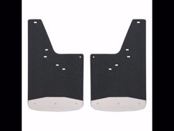 Picture of Universal Textured Rubber Mud Guards - Black - Front - 12