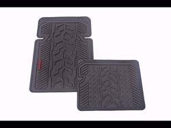 Picture of All Weather Floor Mats - Front and Rear - 4 pc. Set - Black - Rubber