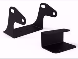 Picture of Off-Road/High Lift Floor Jack Mounting Bracket - Locking Pin Included - 14 Gauge Steel Construction - E-Coated-Black Textured Powder Coated Finish - Installation Hardware Incl.