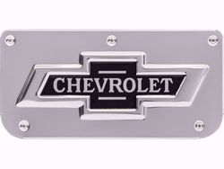 Single Chevrolet Classic Logo Plate With Screws For 12