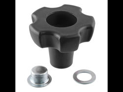 Picture of Jack Replacement Part - Red Handle Knob And Cap Nut For Top Wind Pipe Or Bracket Mount Swivel Trailer Jacks