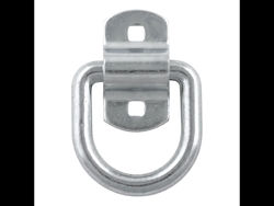 Picture of Forged D-Ring/Brackets - 1/2in. D-Ring - w/Bracket - 11000 lbs Capacity - 2.5in. x 2 3/8in. ID - White Zinc Finish