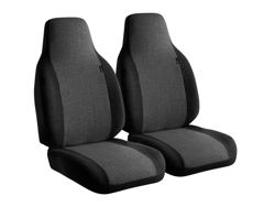 Picture of OE Semi Custom Seat Cover - Charcoal - Bucket Seats - Adjustable Headrests