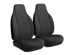 Picture of Wrangler Semi-Custom Solid Seat Cover - Black - Bucket Seats - Adjustable Headrests