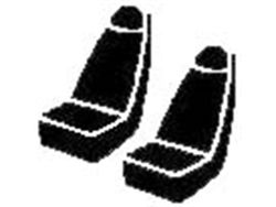 Picture of Wrangler Universal Fit Solid Seat Cover - Saddle Blanket - Black - Bucket Seat - High Back