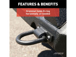 Picture of Anti-Rattle D-Ring - Incl. 2 D-Rings - For Use w/Aries TrailChaser Bumper - Textured Black Powdercoat - Steel