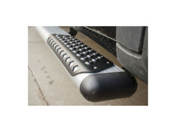 Picture of O-Mega II 6 in. Oval Side Steps Only - Silver Powder Coat