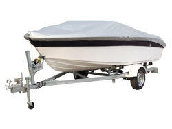Picture of 3D MAXpider Grand Tex PRO 150D Boat Cover - 17 in. - 19 in. Beam Width Up To 96 in. - Silver