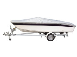 Picture of 3D MAXpider Grand Tex PRO 150D Boat Cover - 20 in. - 22 in. Beam Width Up To 100 in. - Silver